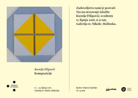 Izložba u galeriji Svetog Nikole – Ksenija Filipović – kompozicije