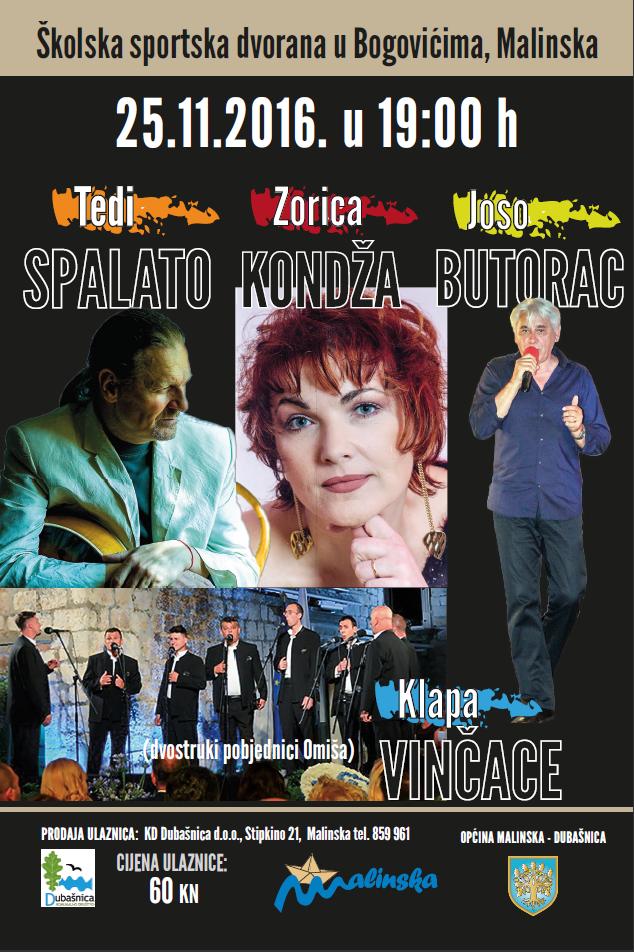 Koncert za pamćenje u Bogovićima – 25. studenoga 2016. godine