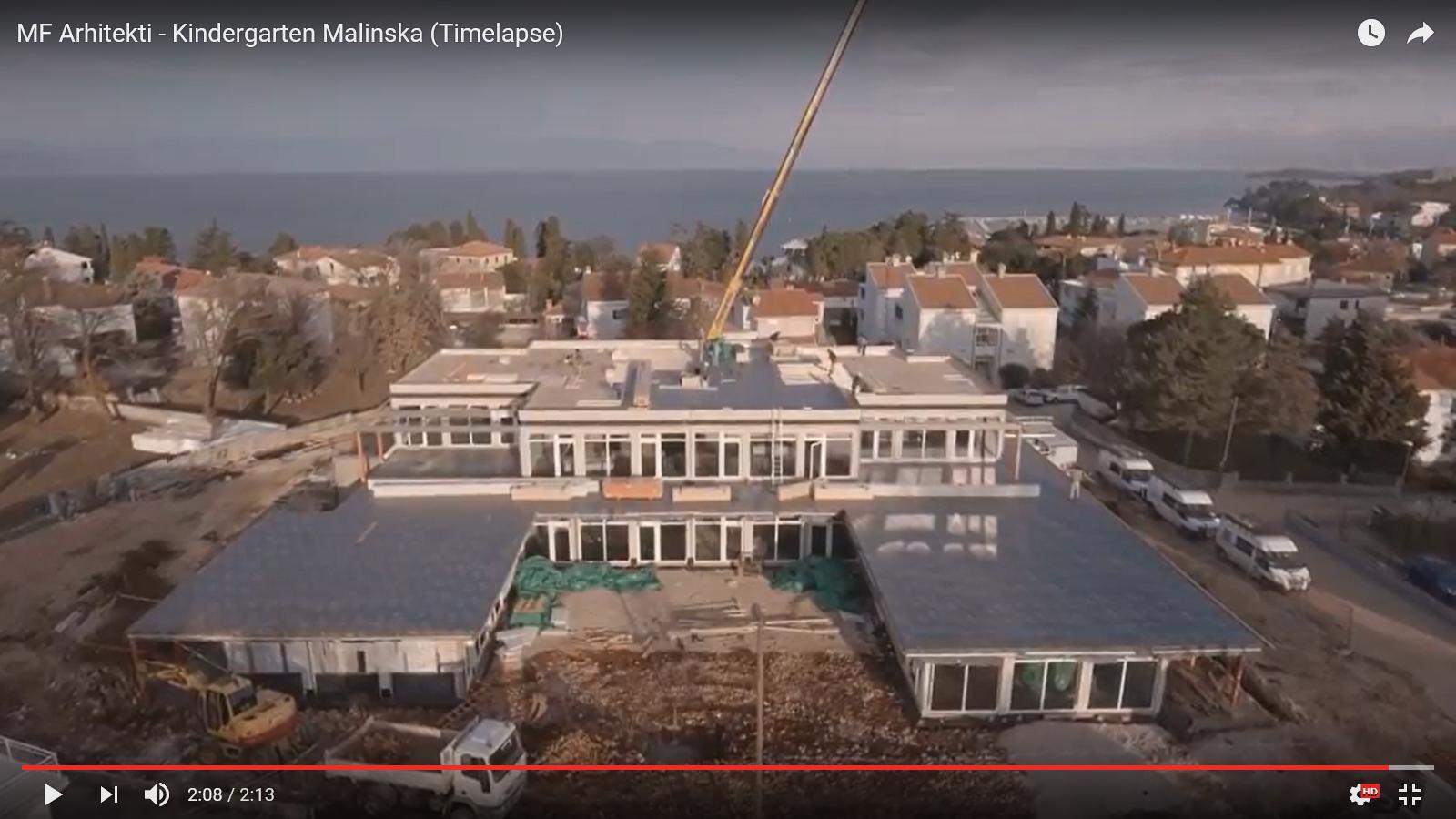 Slikopisni prikaz tijeka izgradnje vrtića u Malinskoj – Dubašnici