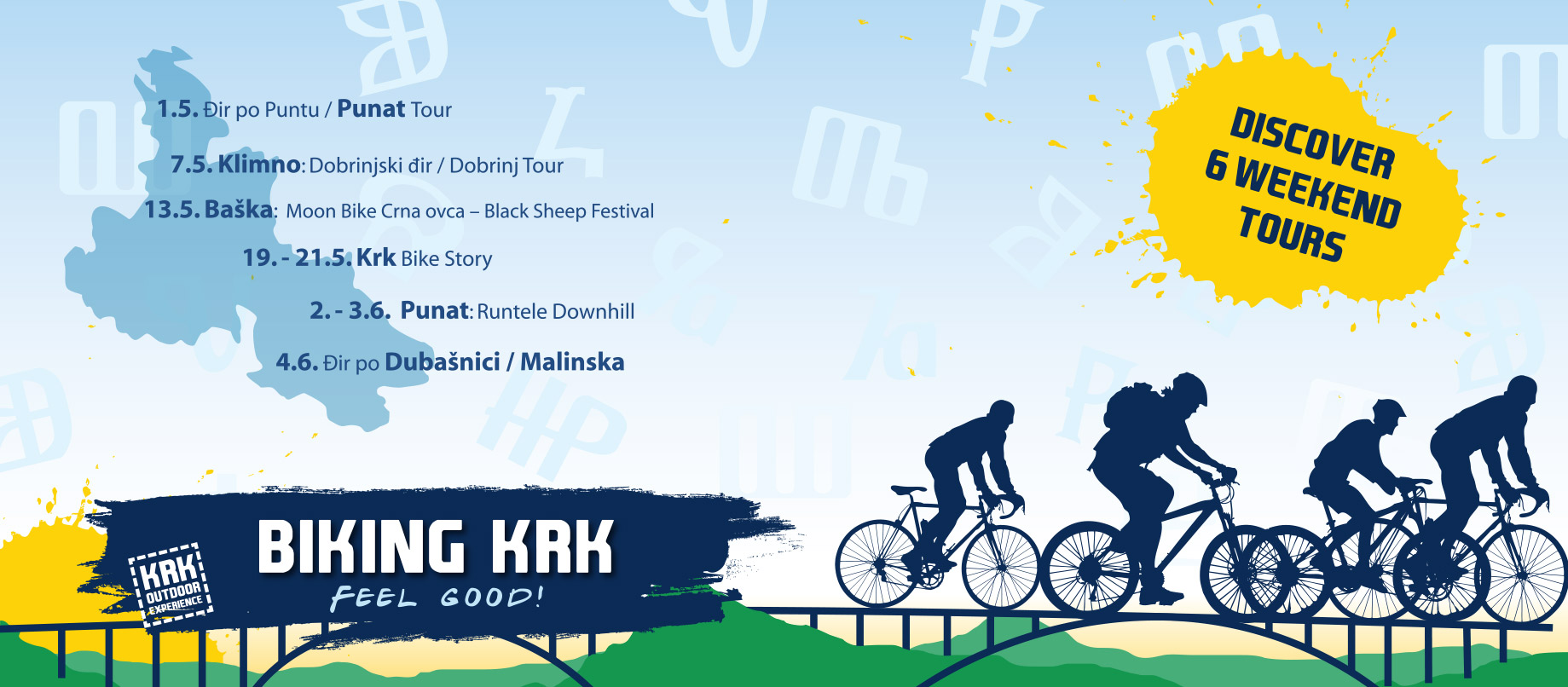 Biking Krk – Discover Six Weekend Tours