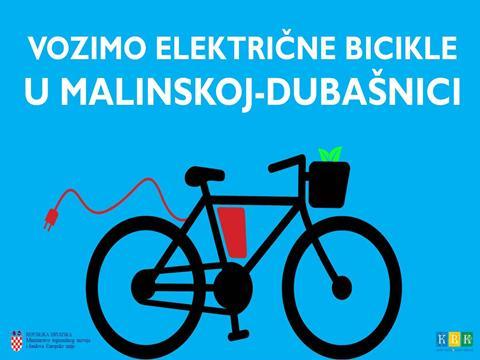 Vozimo električne bicikle u Malinskoj – Dubšnici