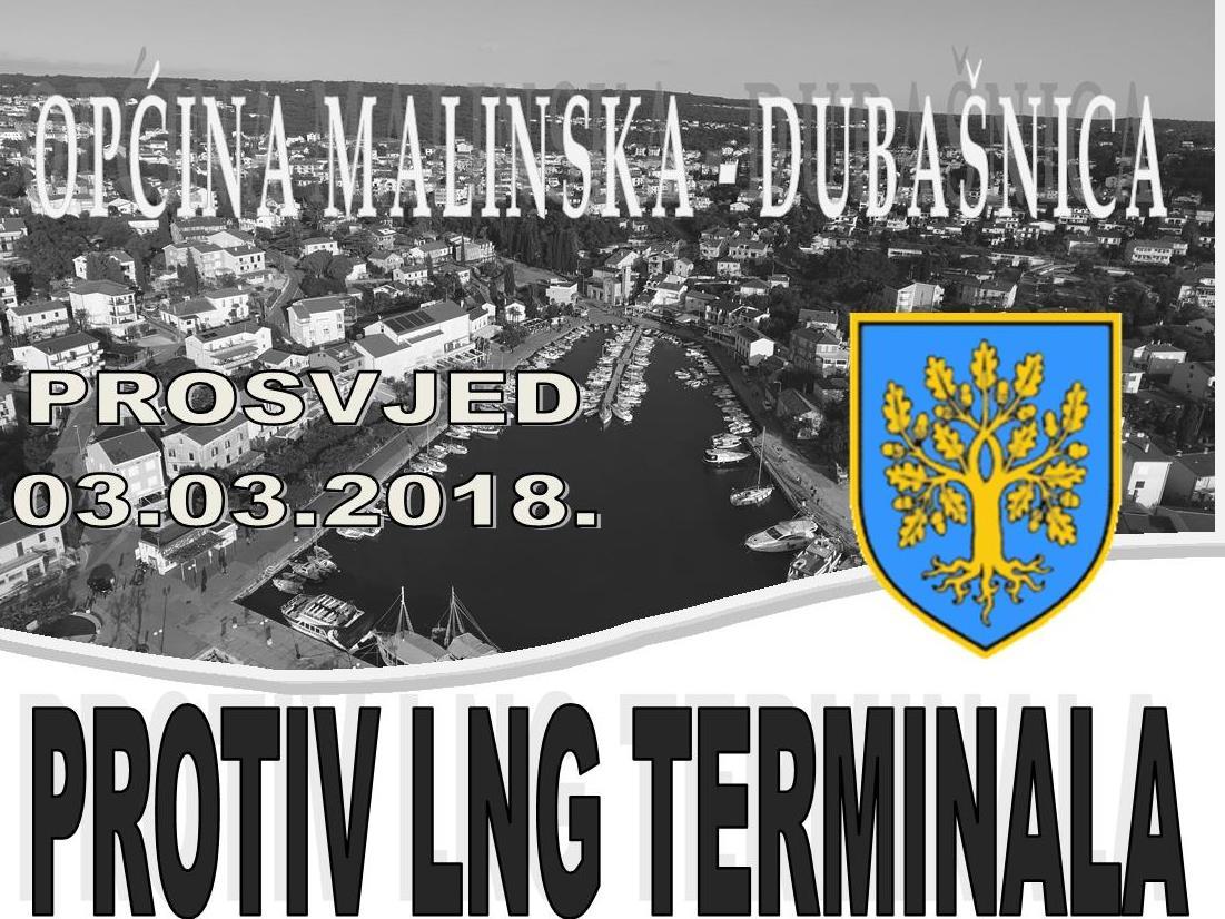 Organiziran prijevoz na prosvjed protiv plutajućeg LNG terminala