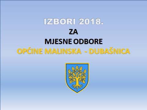 Rješenje o određivanju biračkih mjesta za Mjesne odbore Općine Malinska – Dubašnica