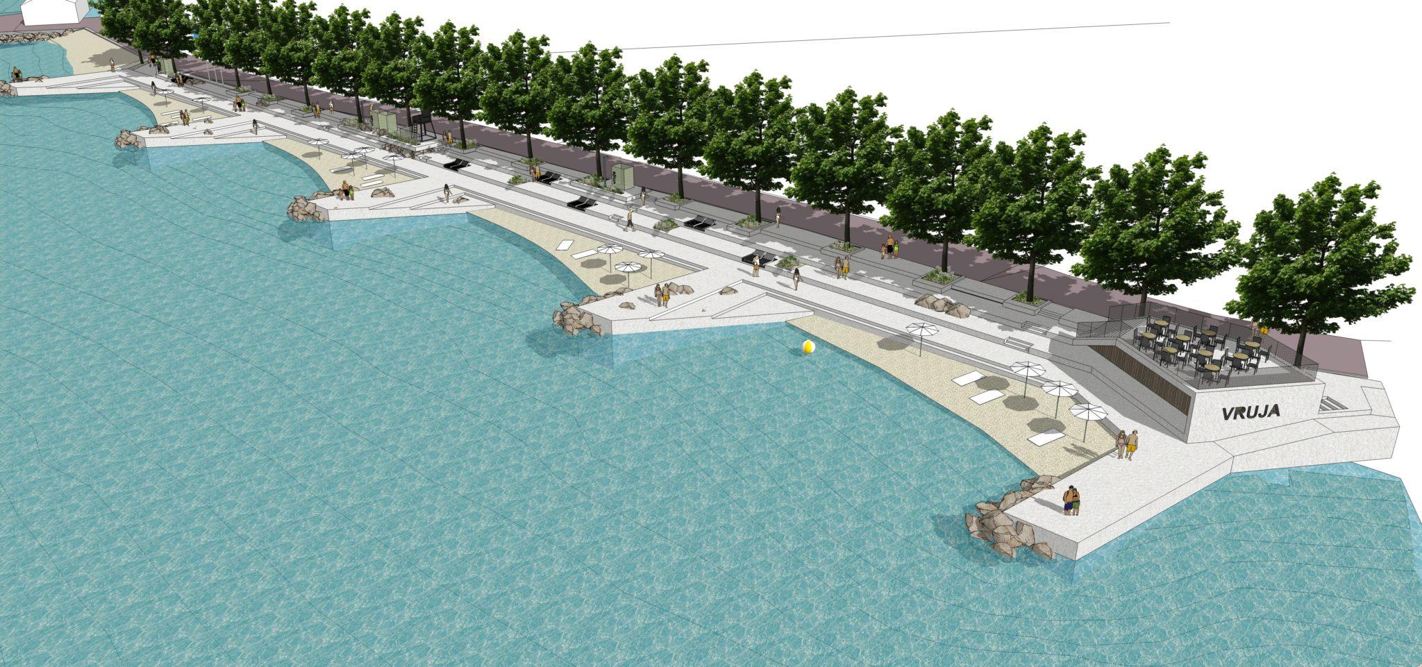 Predstavljen projekt uređenja plaže Vruja