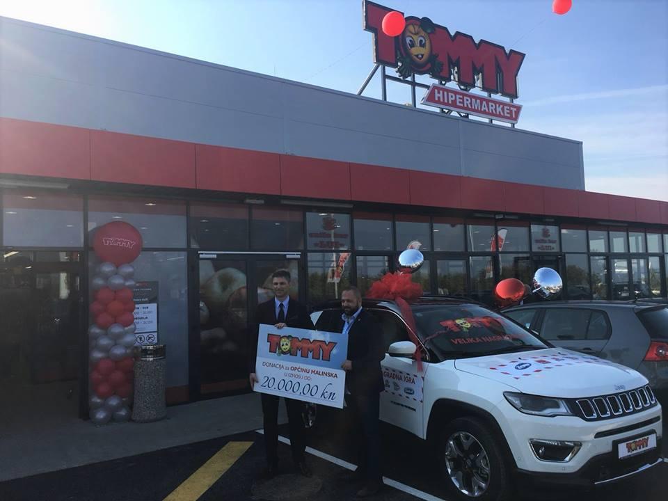U Svetom Vidu otvoren novi hipermarket Tommy i uručena je donacija Općini Malinska – Dubašnica
