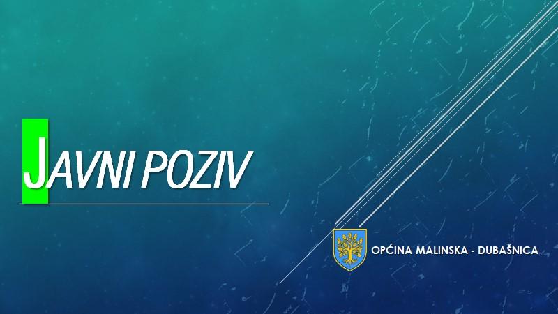Javni poziv za podnošenje prijedloga za dodjelu javnih priznanja Općine Malinska – Dubašnica u 2020. godini